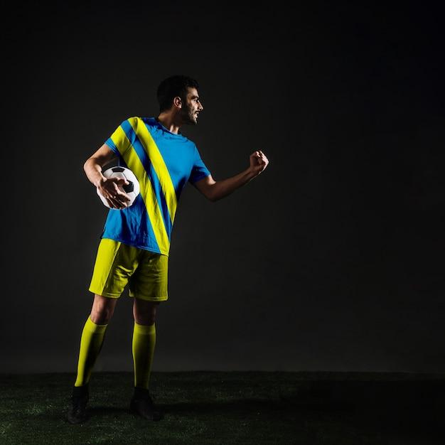Football player celebrating Free Psd