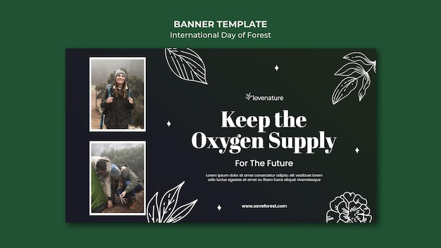 Forest day banner template Free Psd