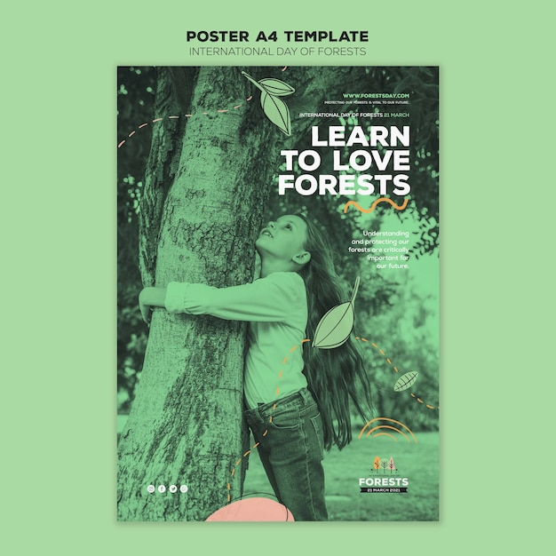 Forest day flyer template Free Psd