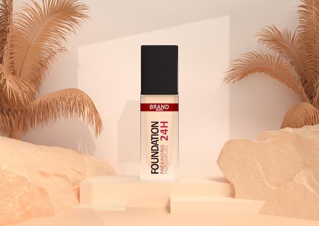 Foundation makeup in elegant packaging Premium Psd