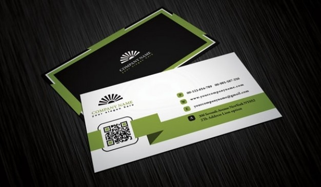 Four Business Cards Template PSD File