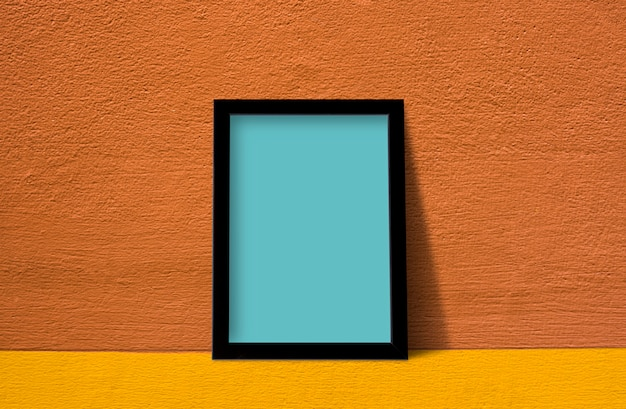 Frame against wall Free Psd