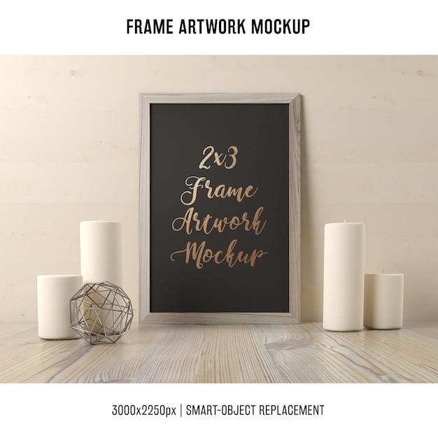 Frame artwork mock up Free Psd