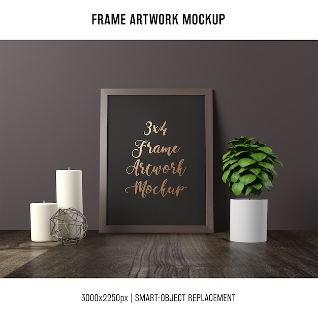 Frame artwork mock up Free Psd