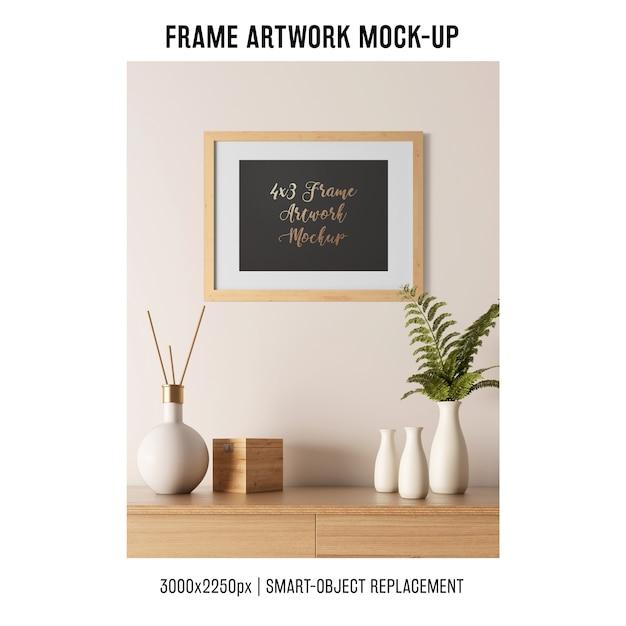 Frame artwork mockup Free Psd
