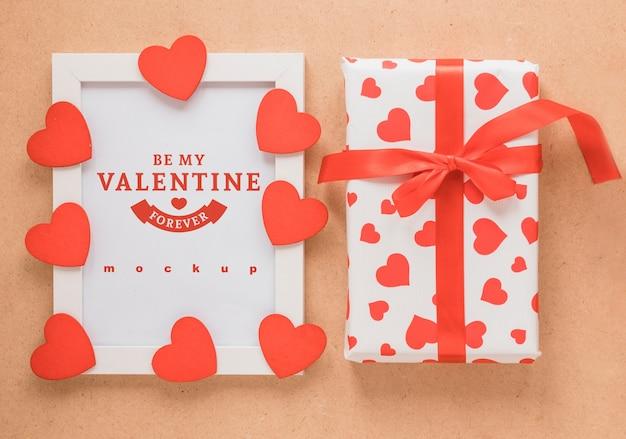 Frame Mockup And Present For Valentine Psd File Free Download