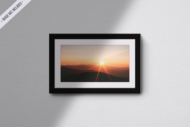 Frame mockup isolated in living room interior Premium Psd