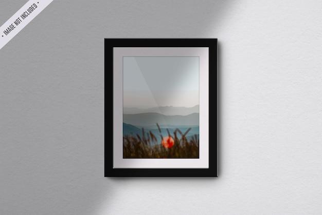 Frame mockup in living room interior Premium Psd