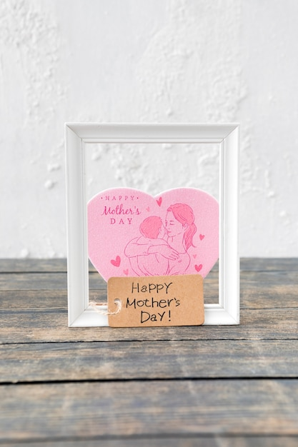 Frame mockup for mothers day Free Psd