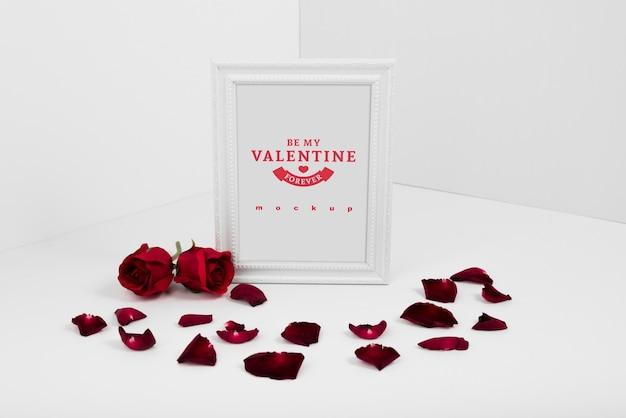 발렌타인 개념 프레임 이랑 무료 PSD 파일