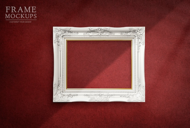 Frame in a red room Free Psd