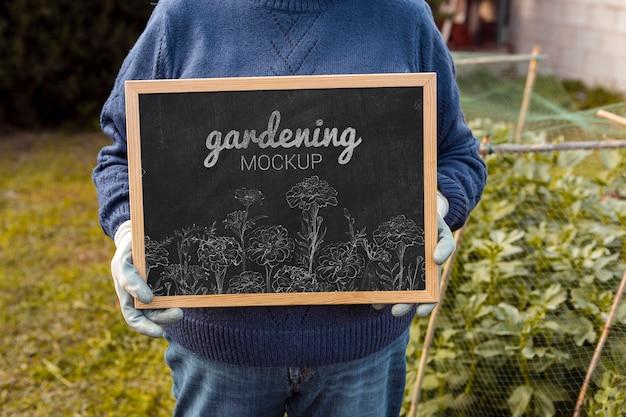 Рамка с садовым сообщением Бесплатные Psd