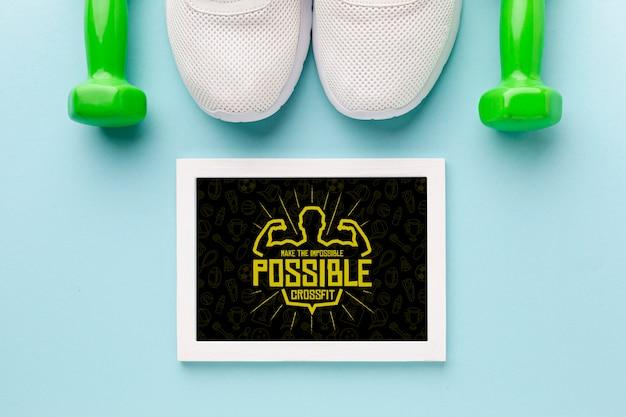 Telaio con citazione motivazionale per il fitness Psd Gratuite