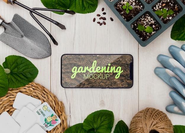 Рамка с инструментами для садоводства Бесплатные Psd