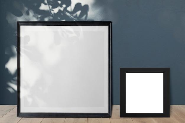 Frames leaning against a wall Premium Psd