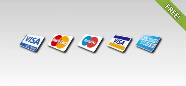 free 5 credit card icons psd file free download