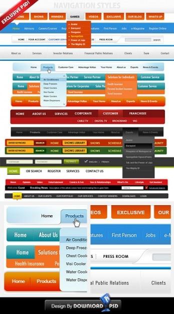 Custom navigation menu thesis