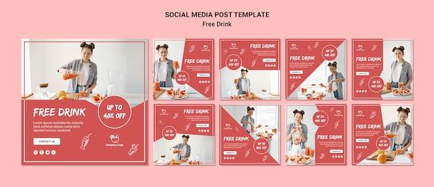 Бесплатная публикация в социальных сетях Бесплатные Psd