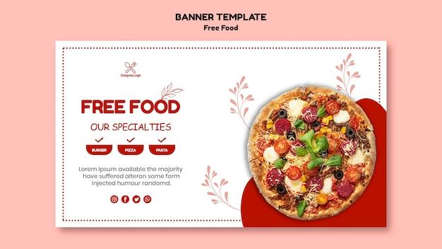 Бесплатная еда баннер Бесплатные Psd