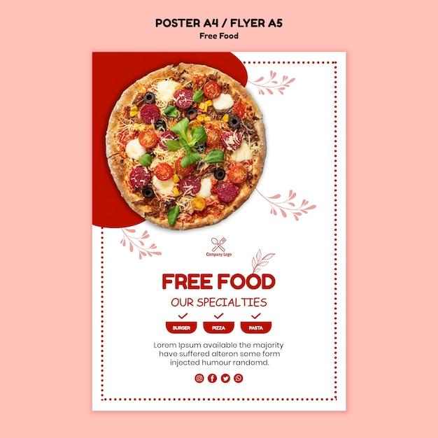 Плакат о бесплатной еде Бесплатные Psd