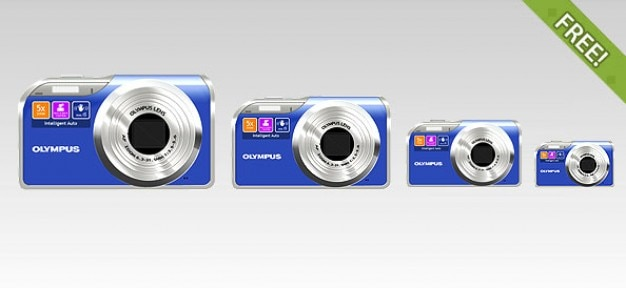 Free full layered olympus digital camera icon Free Psd