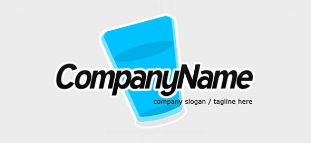 Free logo design template with water glass icon PSD file | Free ...