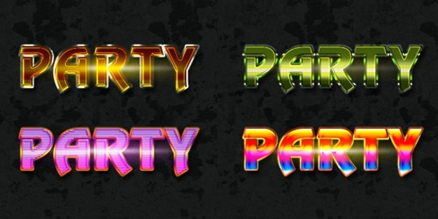 Free photoshop party text style Free Psd