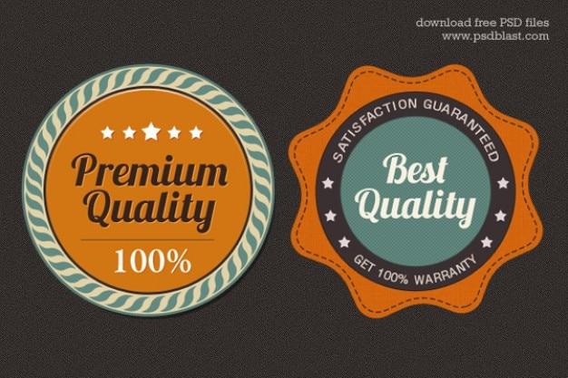 Free premium quality web badge  psd Free Psd