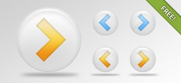 Free PSD Arrow Buttons Pack Free Psd
