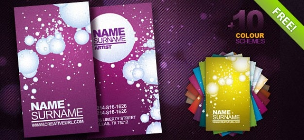 Free Psd Business Card Template Psd File Free Download