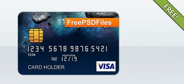 free psd credit card template free psd