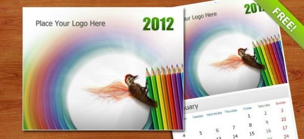 Free PSD Wall Calendar 2012 Free Psd