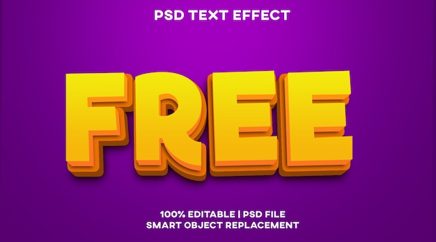フリーテキスト効果スタイルテンプレート Premium Psd