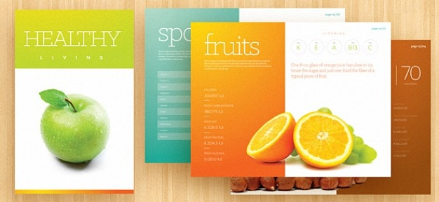 Fresh Brochure Template PSD PSD File Free Download - Food brochure templates