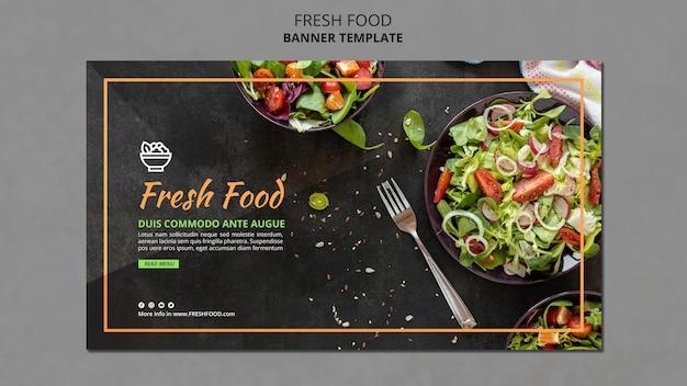 Баннер с рекламой свежих продуктов Бесплатные Psd