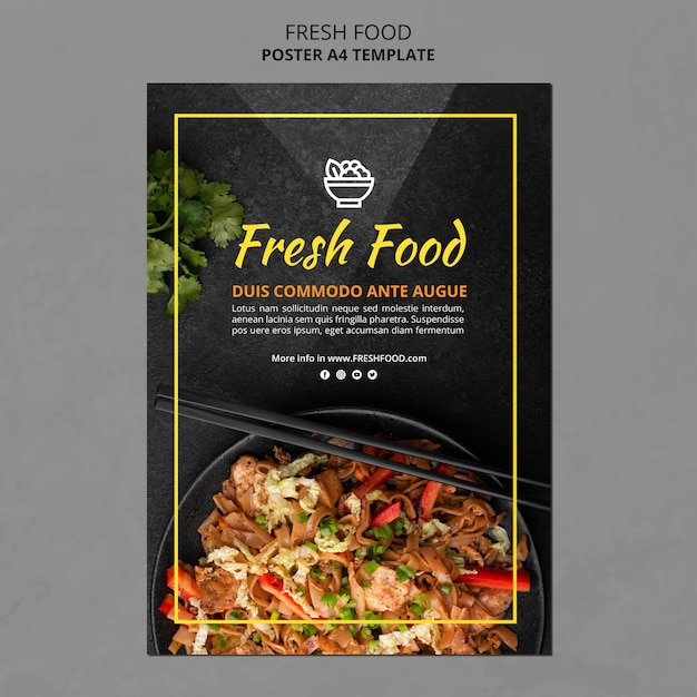 Fresh food flyer template Free Psd