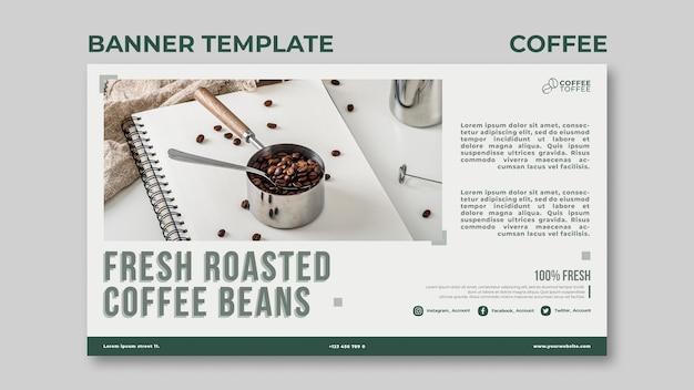 신선한 볶은 커피 콩 배너 서식 파일 무료 PSD 파일