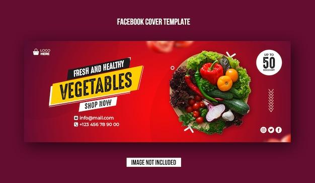 Fresh vegetable facebook cover banner Premium Psd