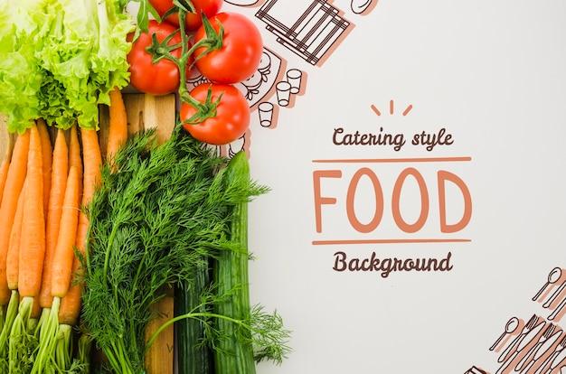 Fresh vegetables assortment mock-up Free Psd