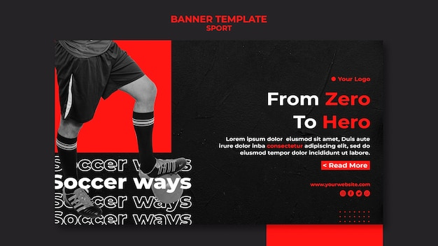 From zero to hero sport banner template Free Psd