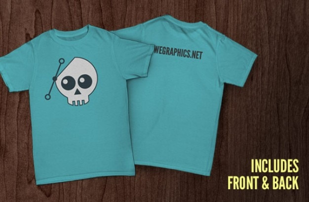 Front And Back T Shirt Template Psd File Free Download
