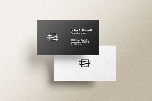 Front and back business card mockup Premium Psd
