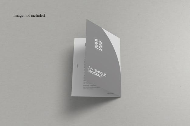 正面図a4二つ折りモックアップ Premium Psd
