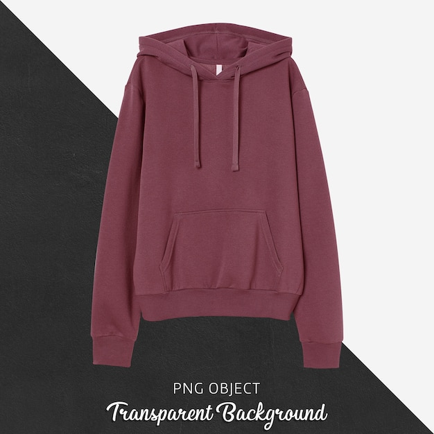 Front view of basic unisex hoodie mockup Premium Psd