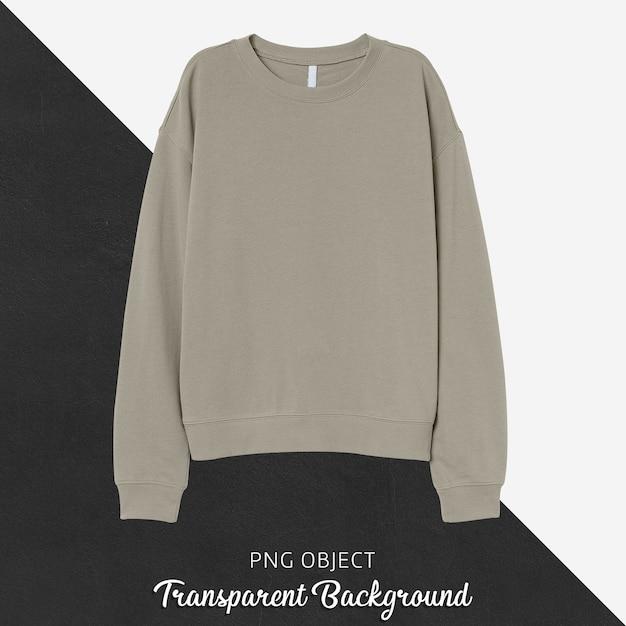 Front view of beige sweatshirt mockup Premium Psd