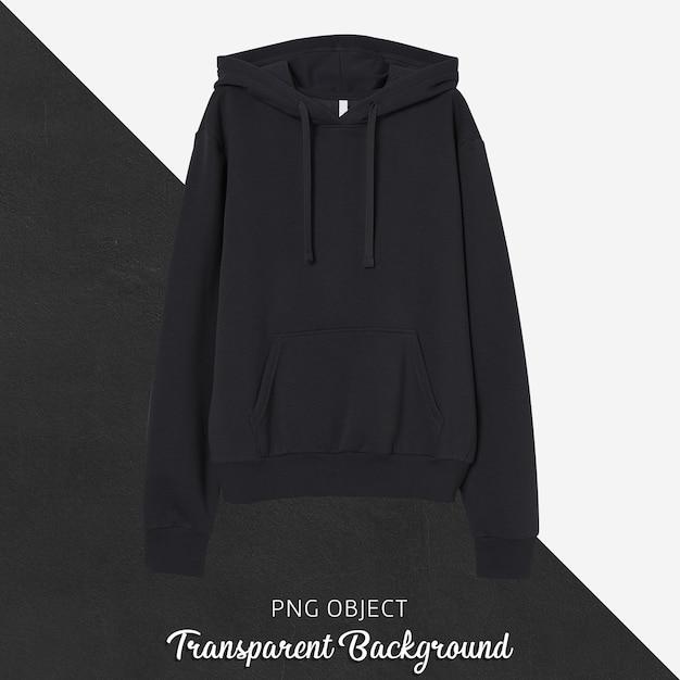 Front view of black unisex hoodie mockup Premium Psd