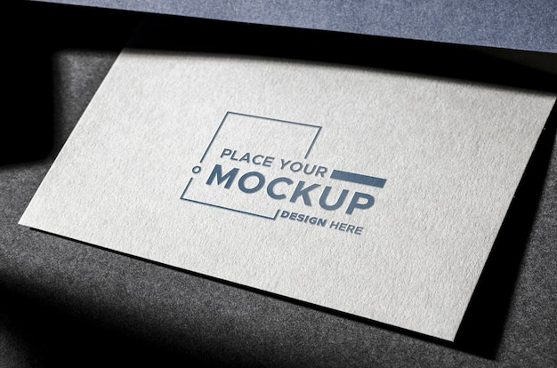 Front view business card mock-up Free Psd