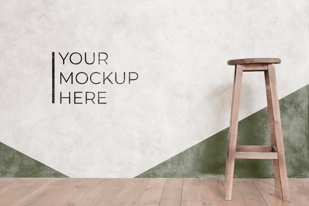 Front view of chair mock-up for interior decoration Premium Psd