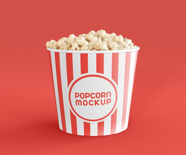 Front view of cinema popcorn mockup Premium Psd