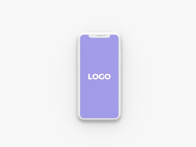 Фронтальный вид clay iphone x mockup Premium Psd